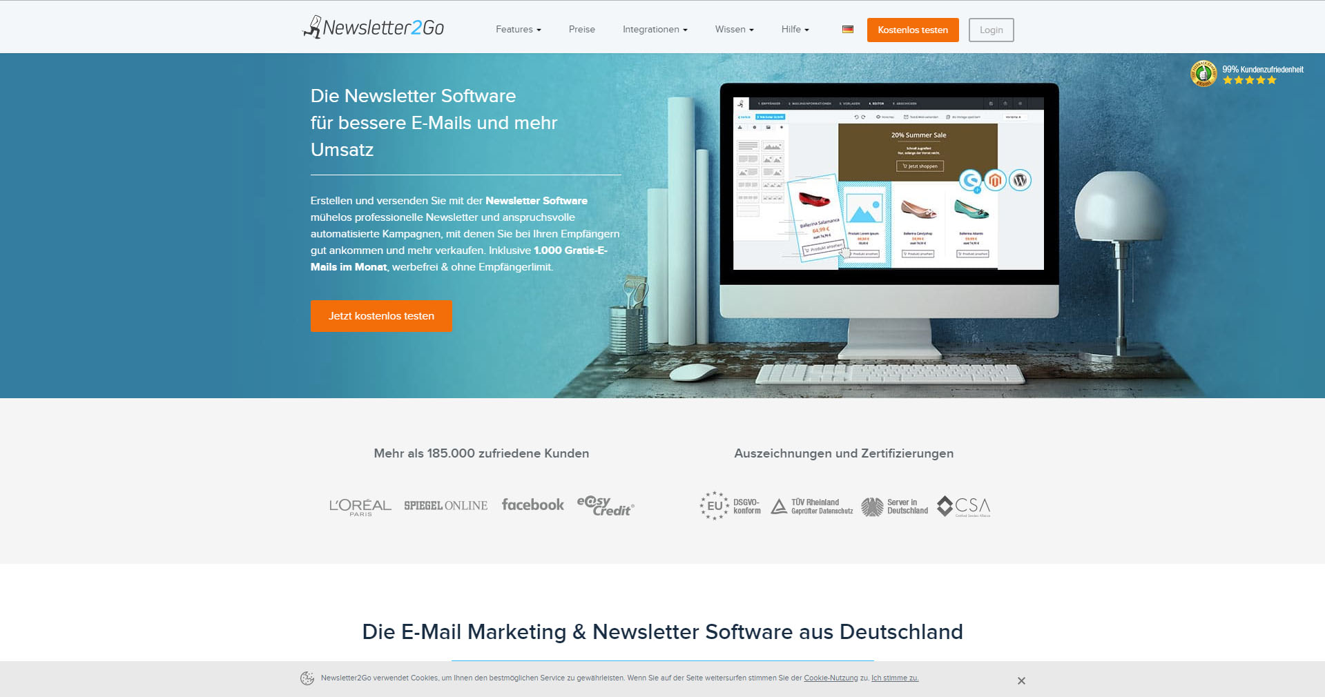 Newsletter2Go E-Mail Marketing Software